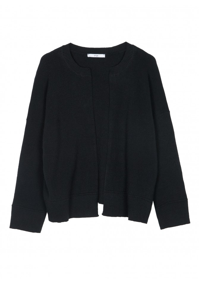 LEVINYLE - Cardigan long sleeves round collar - ANGE