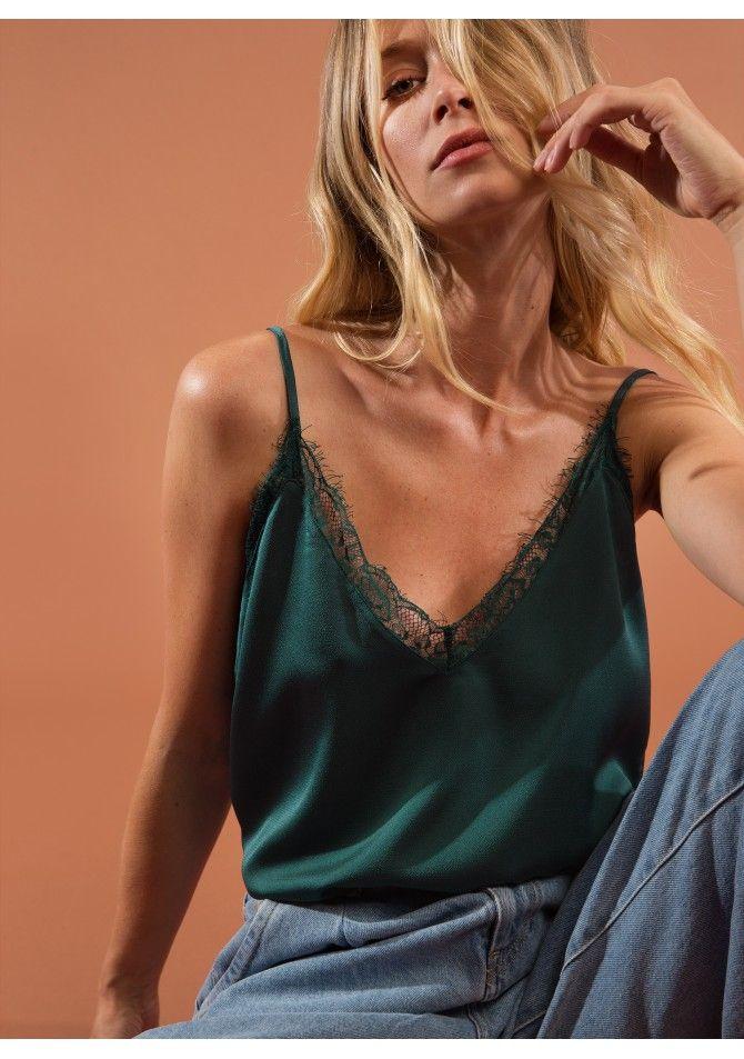 Satin top lace details ANGE