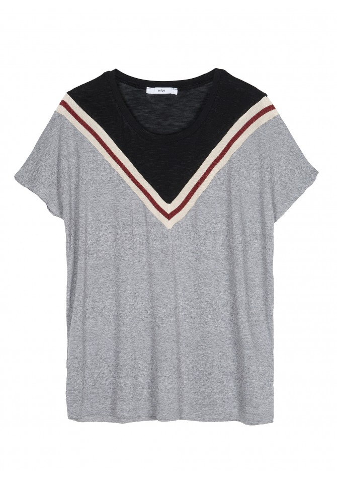 TAKIRA CH Short sleeves fancy heather t-shirt ANGE