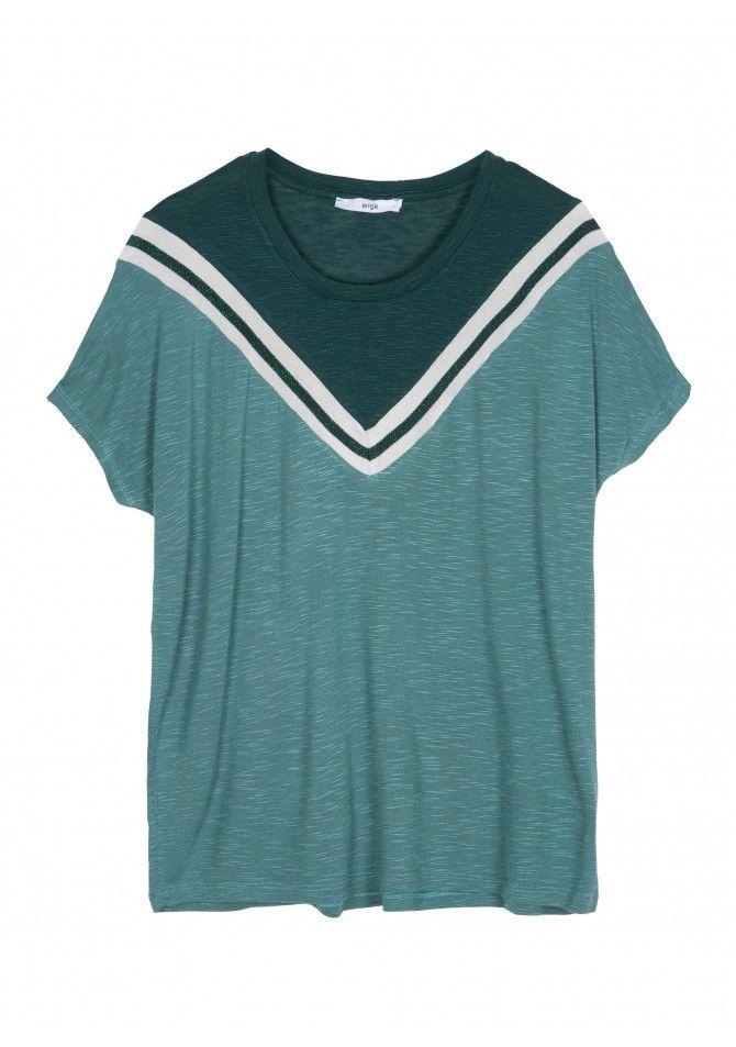 TAKIRA T-shirt fantaisie à manches courtes ANGE