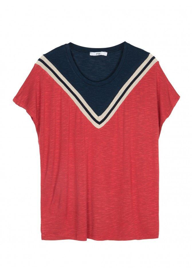TAKIRA Short sleeves fancy t-shirt ANGE