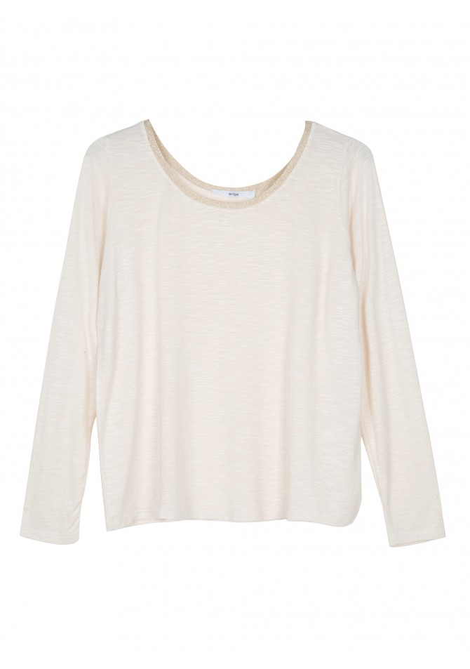 TEROSE Boat neck long sleeve t-shirt ANGE