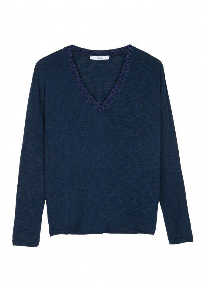 TANGERY T-shirt manches longues col basic v ANGE