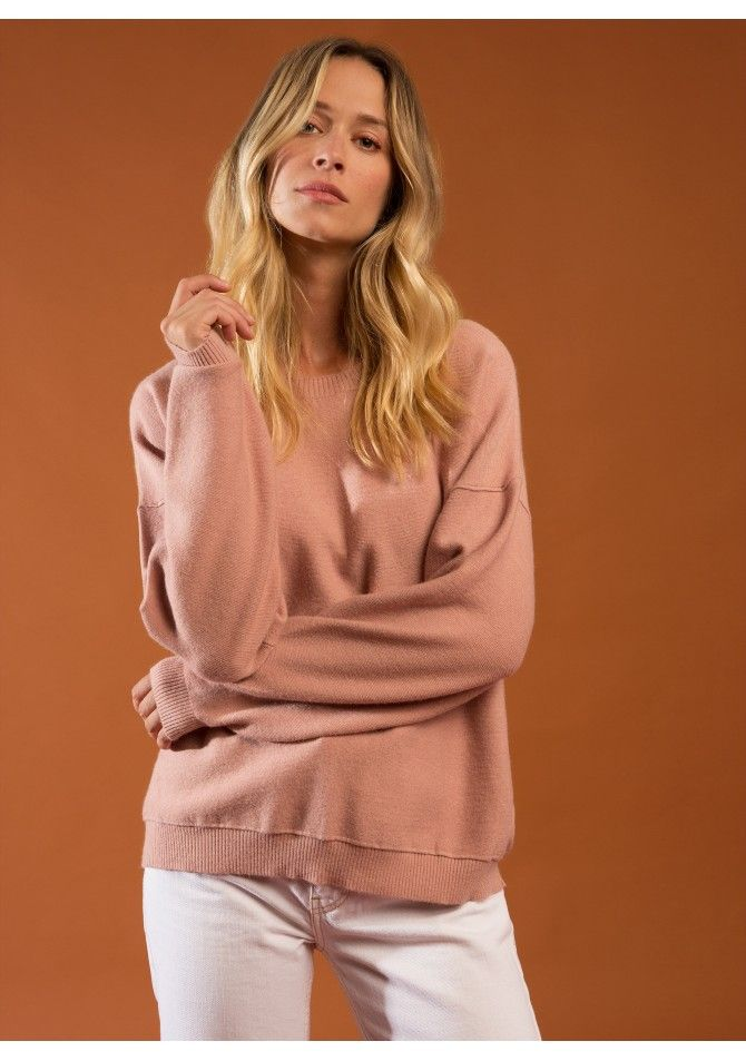 LOUISA Round neck sweater with long sleeves - ANGE