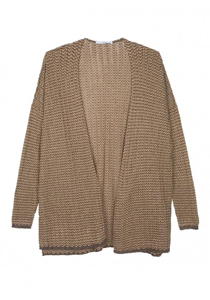 LARIANE Light knit open cardigan - Reflect X ANGE
