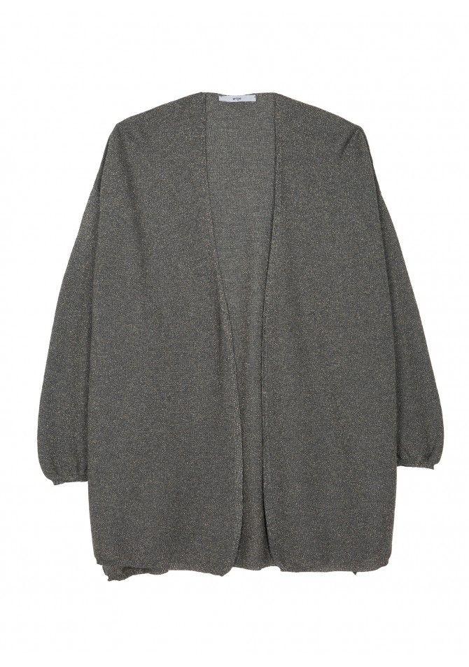 LARY - Shimmer effect mesh vest - ANGE