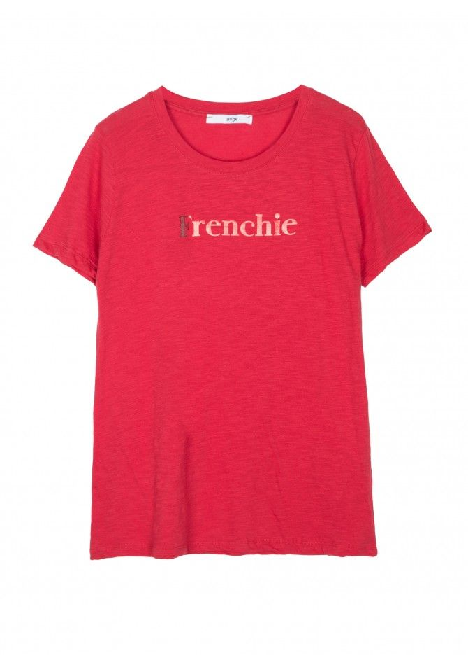 TEFRENCHIE T-shirt manches courtes imprimé Frenchie ANGE
