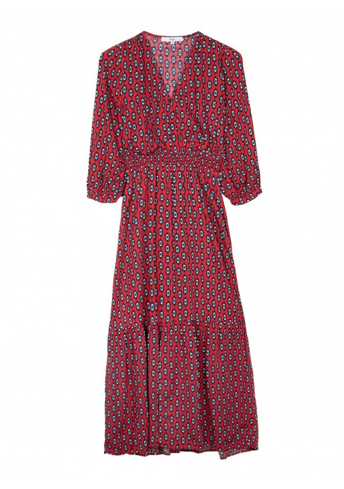 MADRID Mid-length dress with printed ANGE