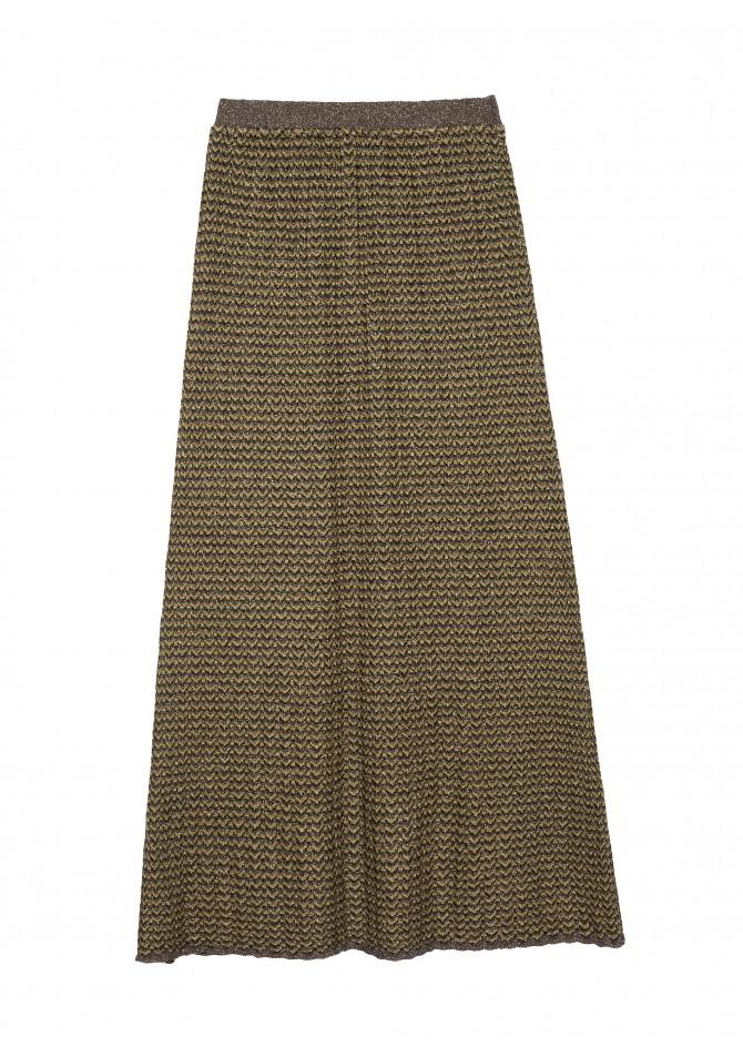 LOKA Long light knit skirt - Reflect X