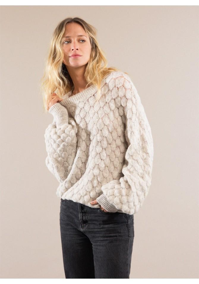 LEMON Fancy knit jumper with long sleeves ANGE