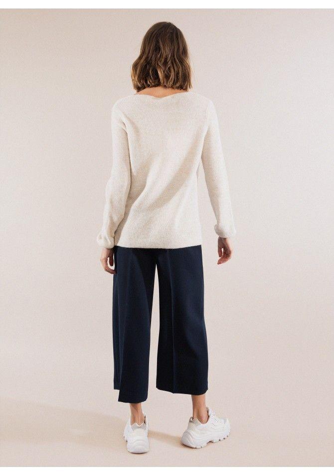 LAMIR Ribbed knit sweater v neck ANGE
