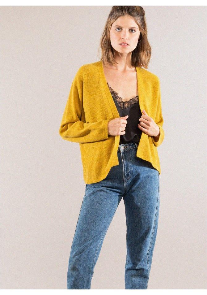 LEGENDA Long-length open cardigan ANGE