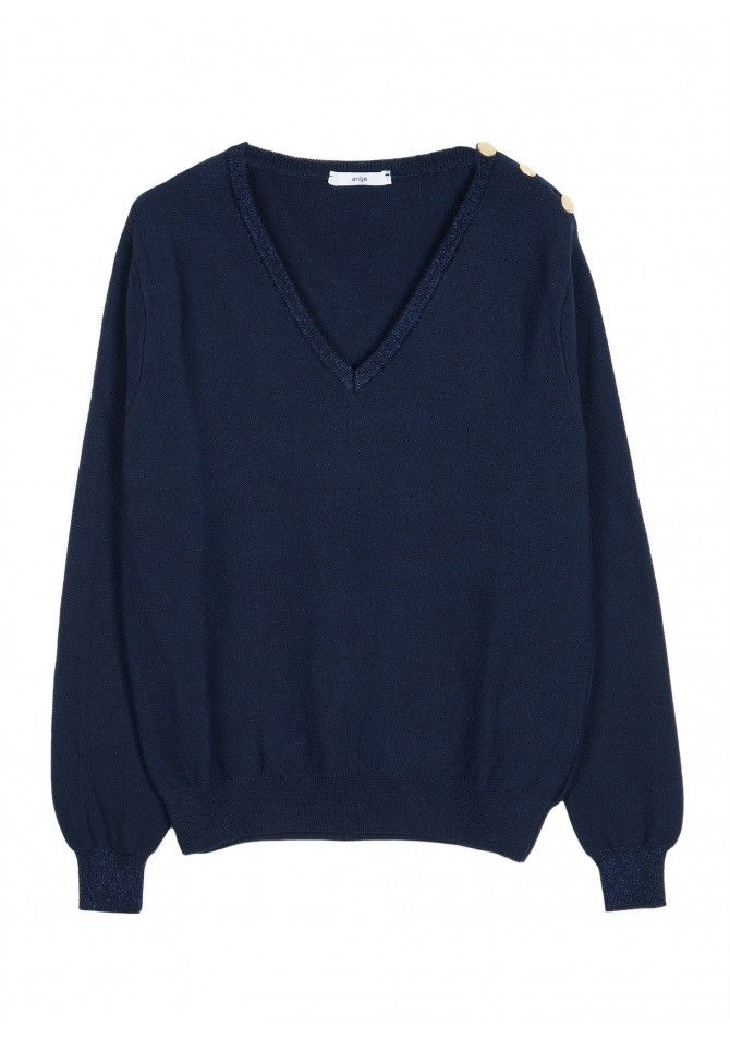 LEPIERO - Button knit sweater - ANGE