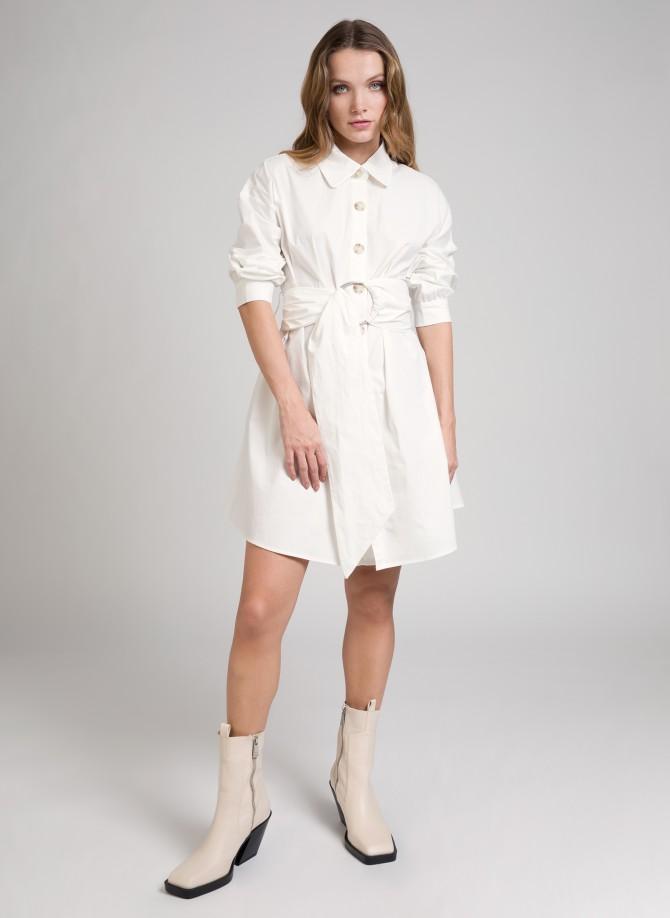 Belted shirt dress EMILIA