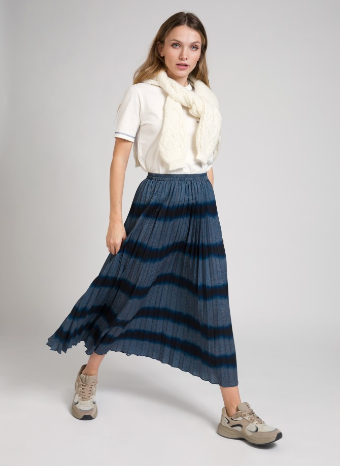 Tie and dye pleated skirt JANIE