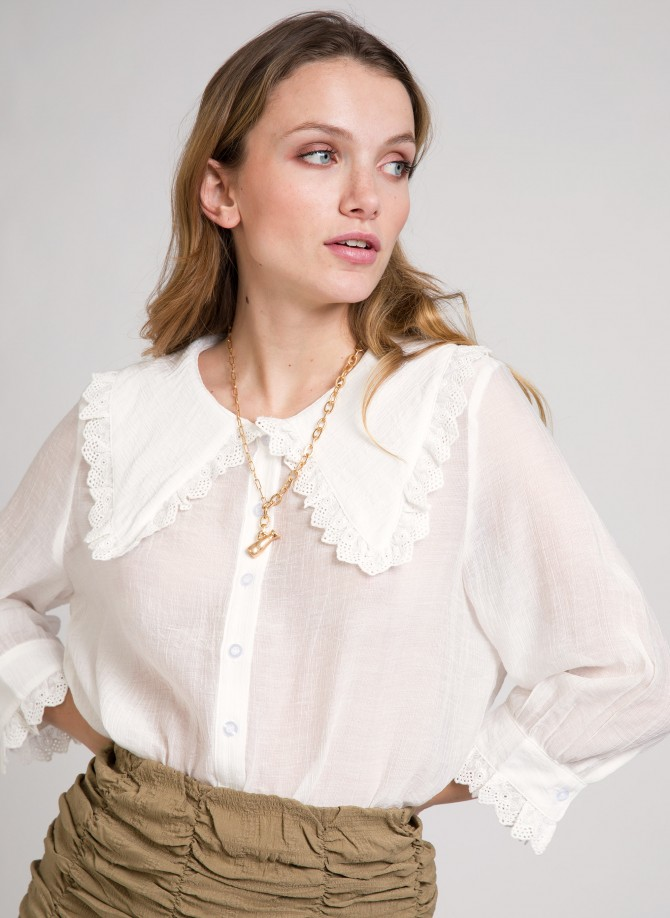 Blouse with claudine collar ALEXE