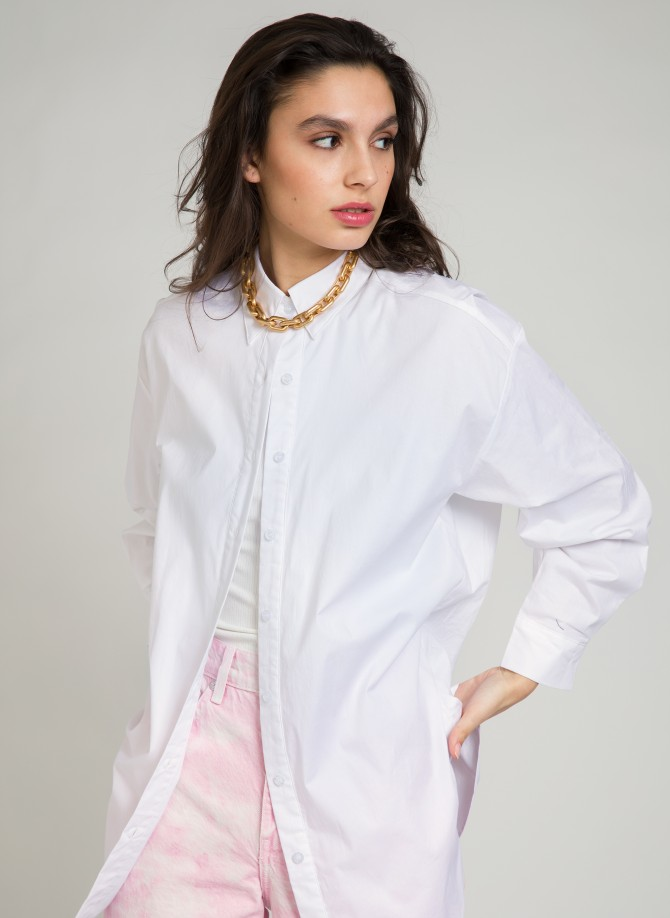 Long cotton shirt ALESSIA