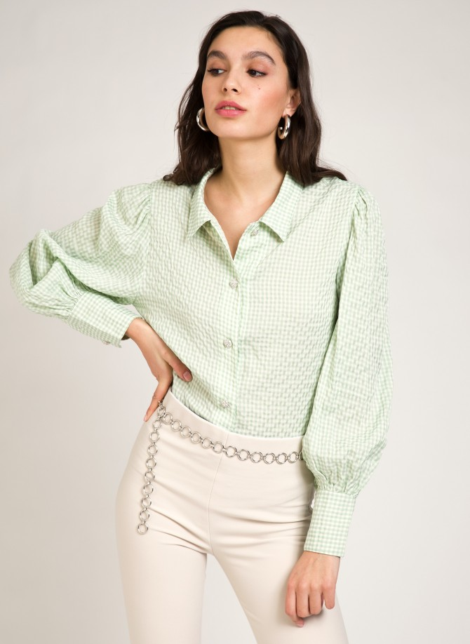 Vichy shirt with buttons...