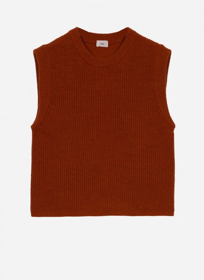 Plain sleeveless jumper LAMAZO