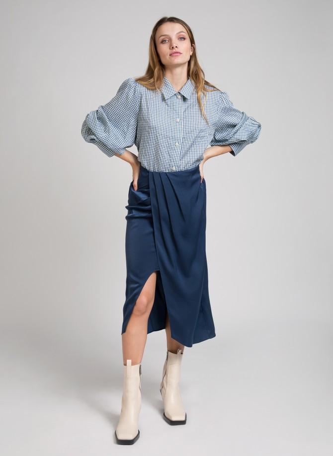 Draped split skirt JULIUS