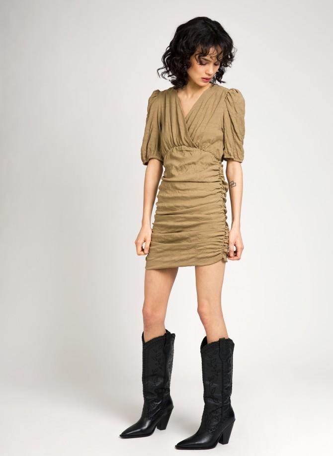 Gathered short dress ERINNA