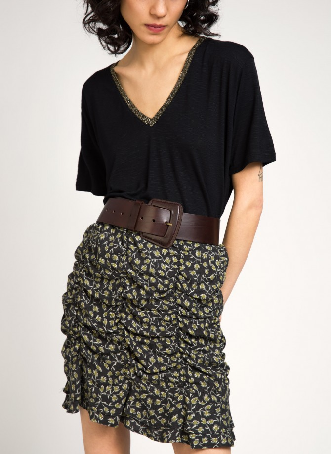 Gathered short skirt GABANO