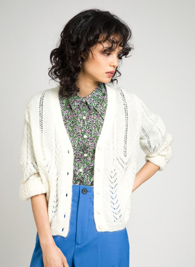 Loose-fitting openwork mesh cardigan LEBETTINA