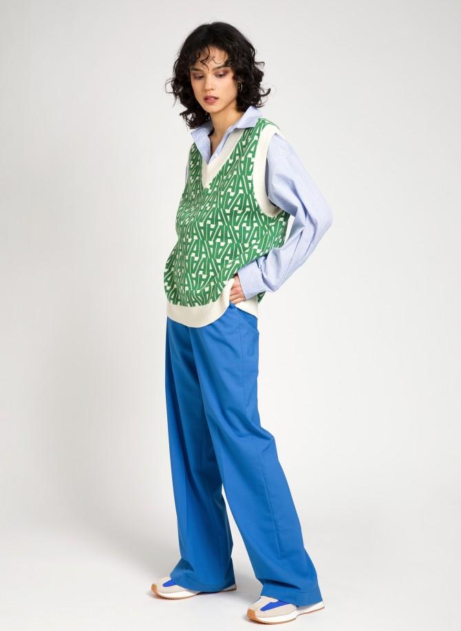 Sleeveless knitted jumper...