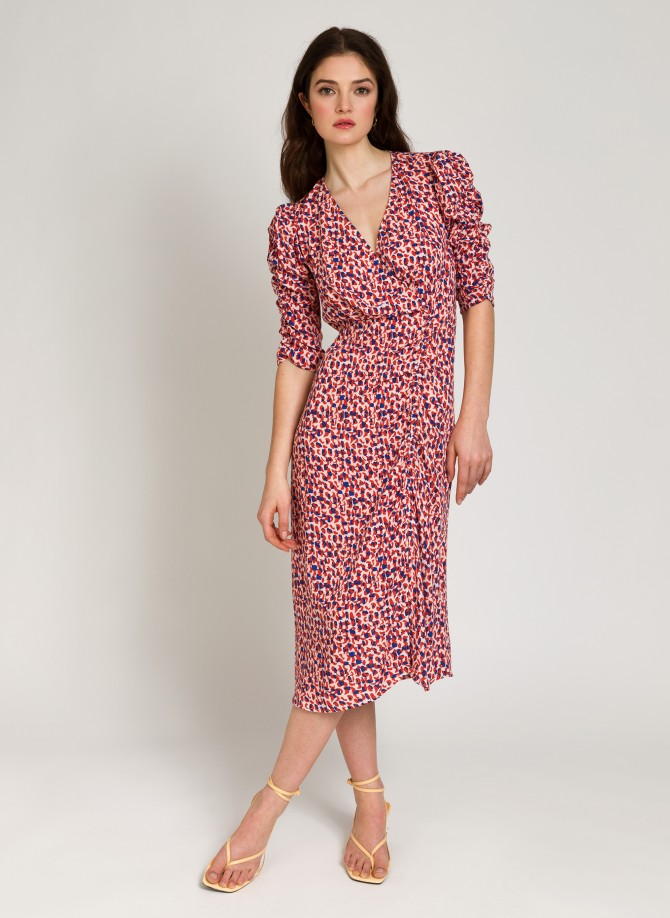 Slit midi dress with lurex...