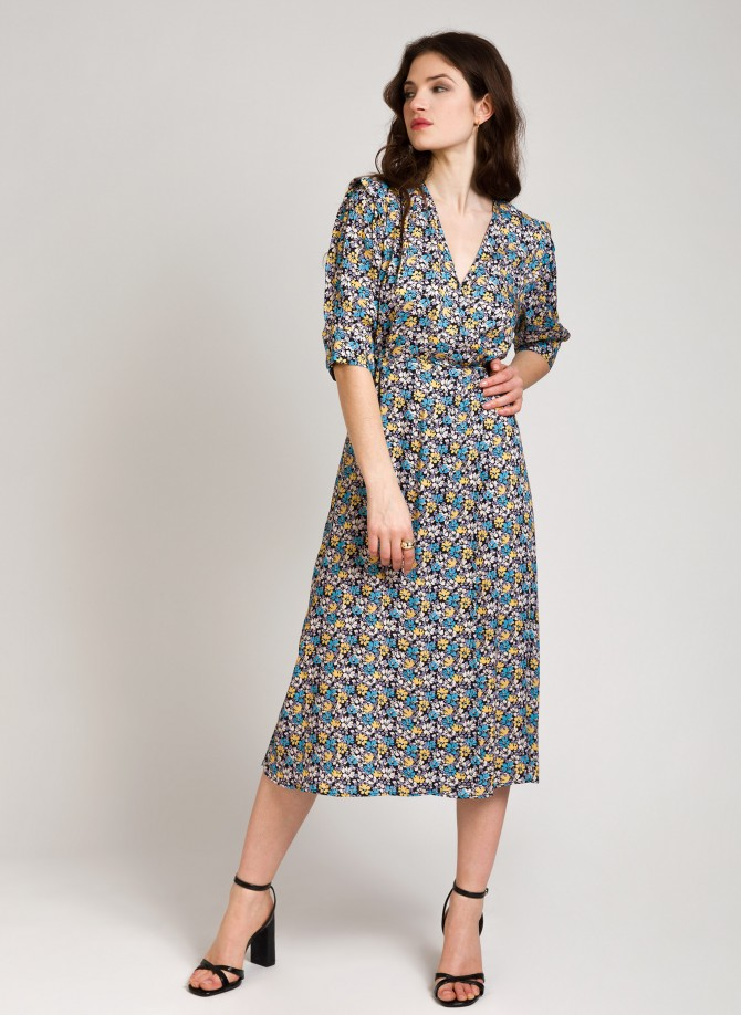 Mid-length dress with heart hide-and-seek MAHO