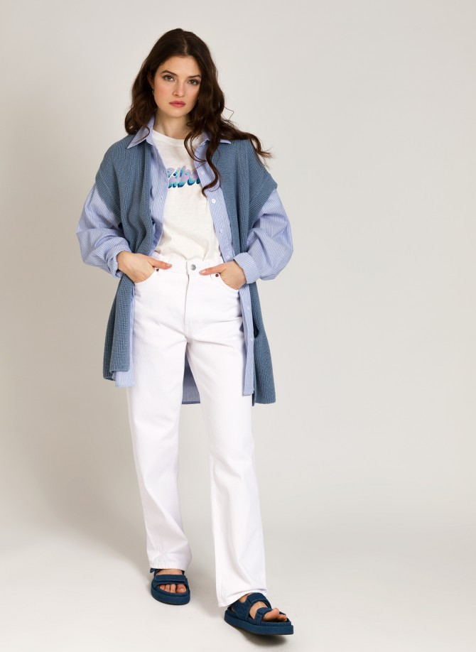 Long sleeveless cardigan...