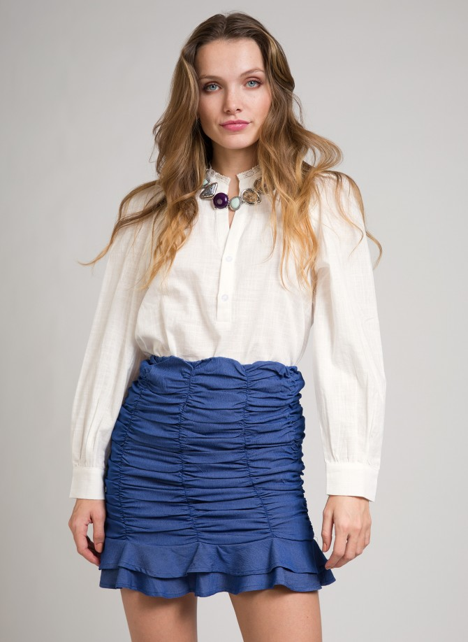 Gathered denim mini skirt JOSHUA