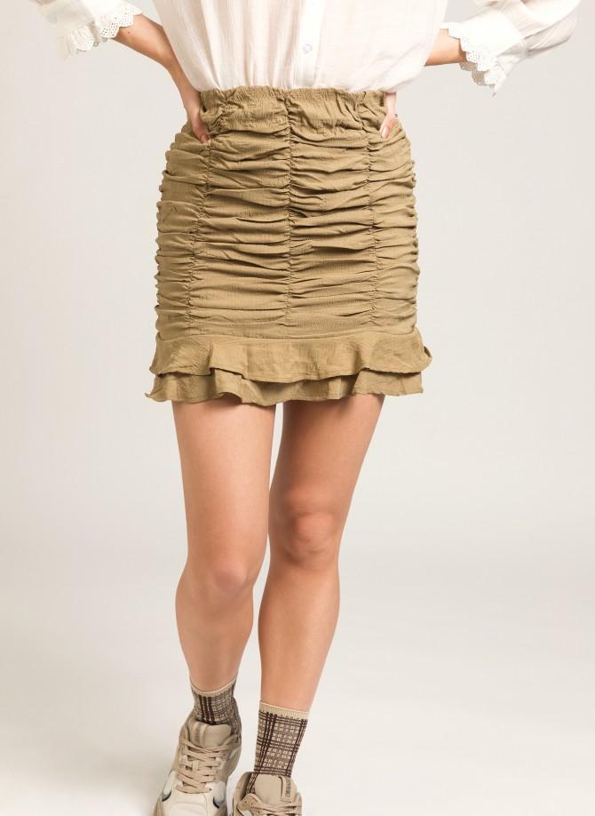 Gathered mini skirt JULYAN