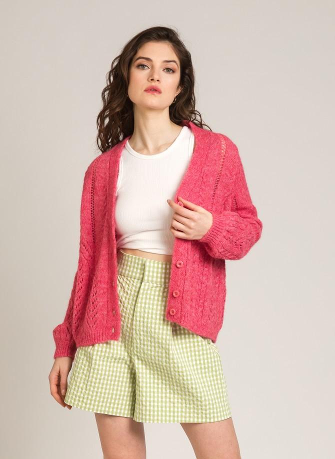 Loose-fitting openwork mesh cardigan LEBETTINA S