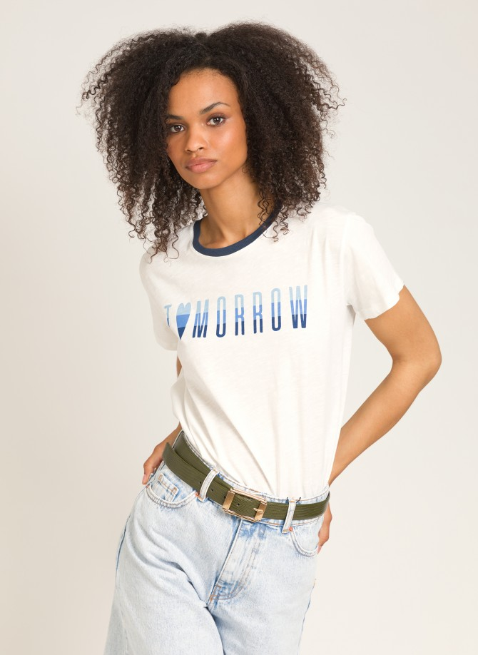 TITO C Cotton message T-shirt
