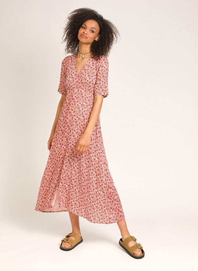 Long buttoned dress ODEON
