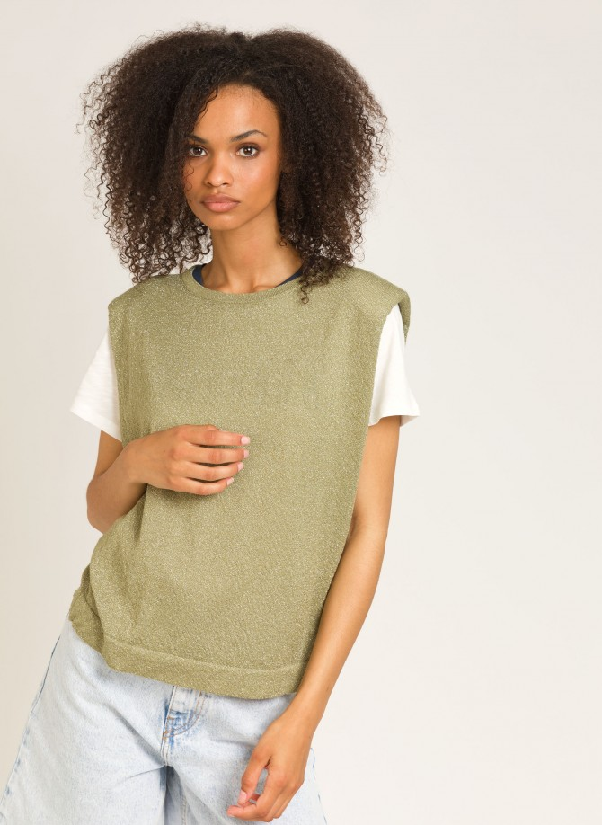 Sweater with epaulettes LEMANOE