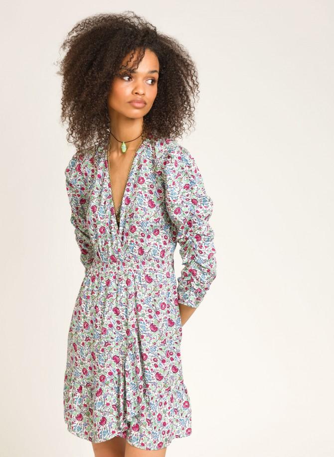 Short dress with flounces...