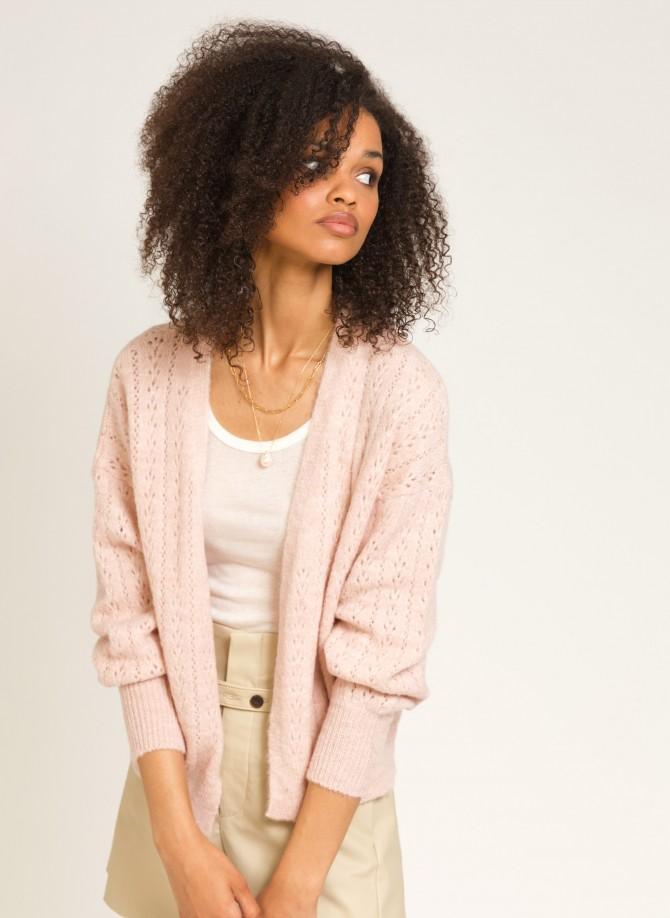 Short knitted cardigan LENOE