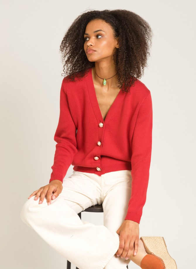 Buttoned knit cardigan LABLAIR