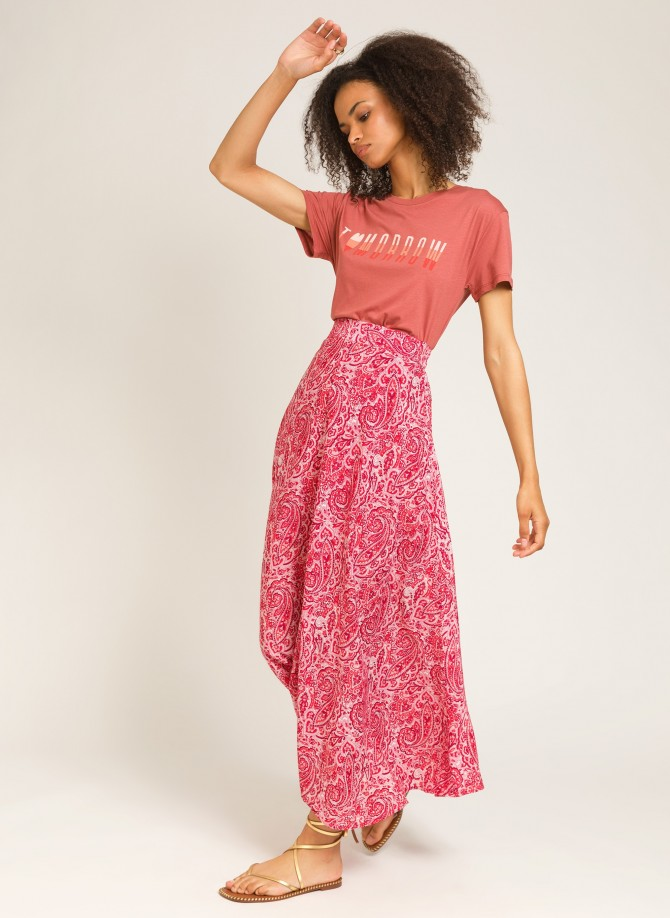 Printed maxi skirt RITA
