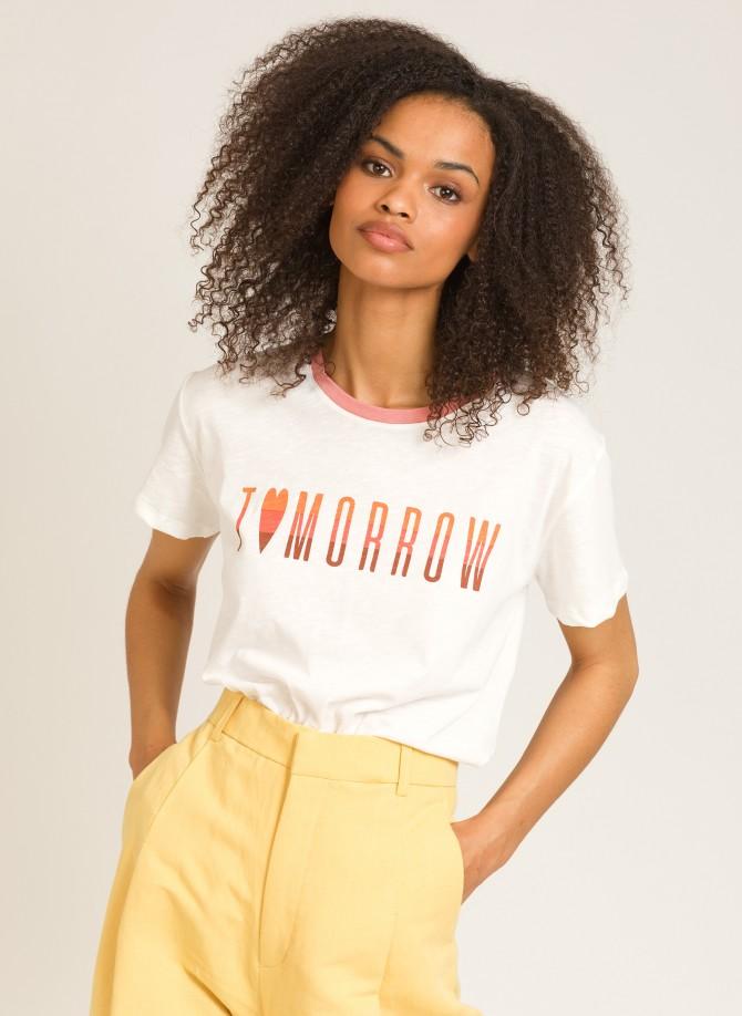 T-shirt à message en coton...