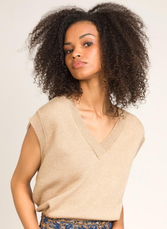Sleeveless knitted jumper LANTONE