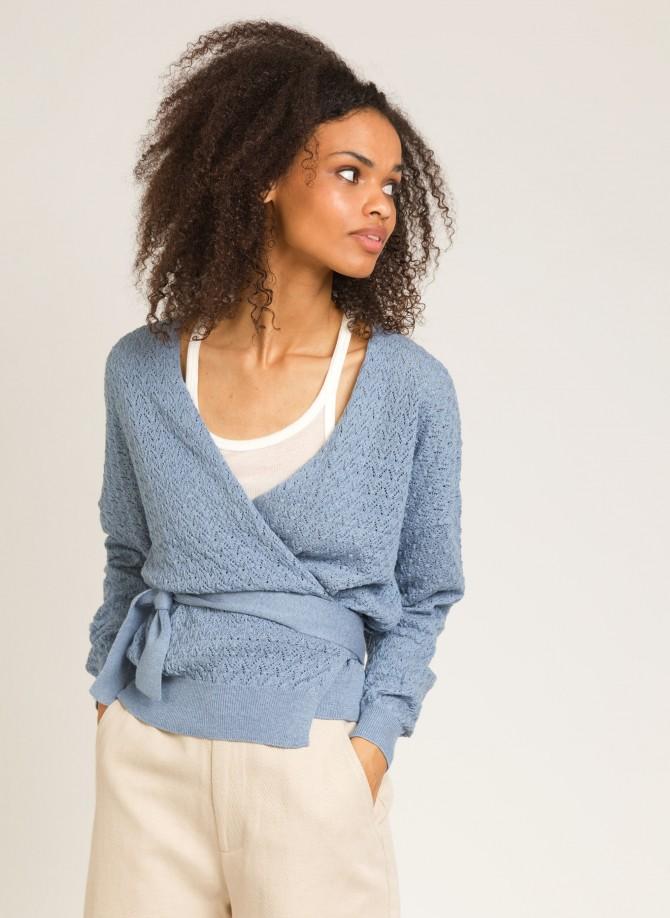 Knitted wrap sweater LEMINA
