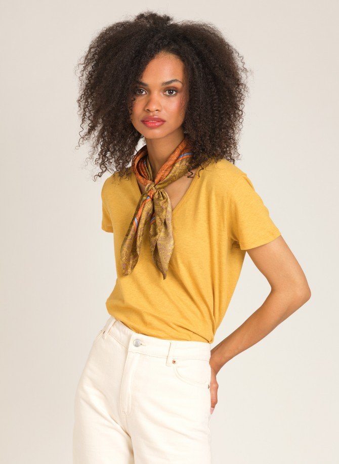 Cotton and linen T-shirt  TANA