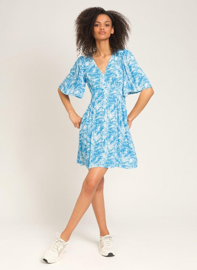 Lurex printed short dress...