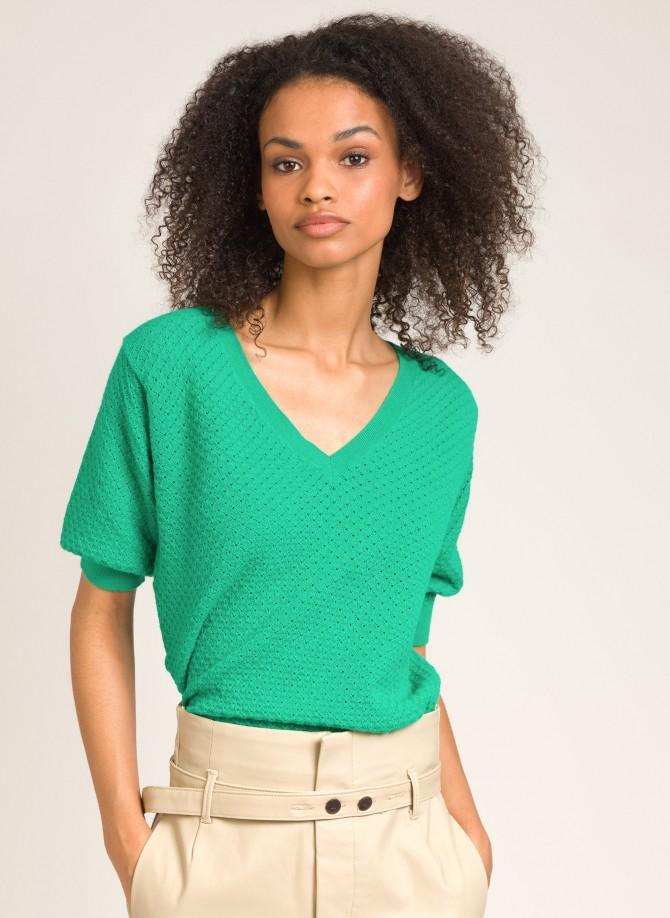 Short-sleeved knitted...