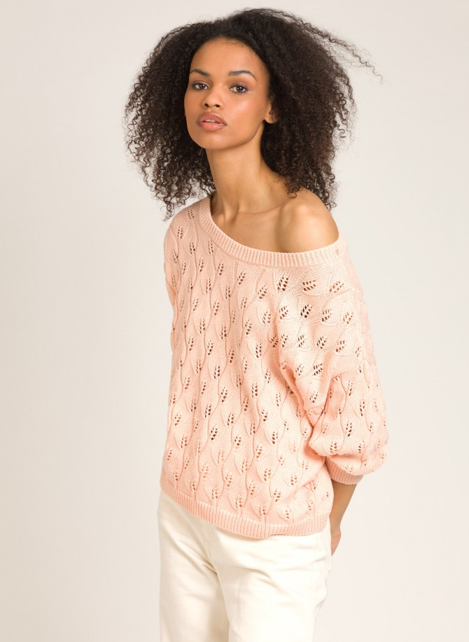 Pullover in openwork knit...