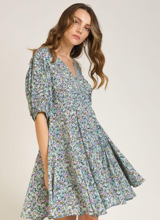 Short dress with short sleeves ORIANE