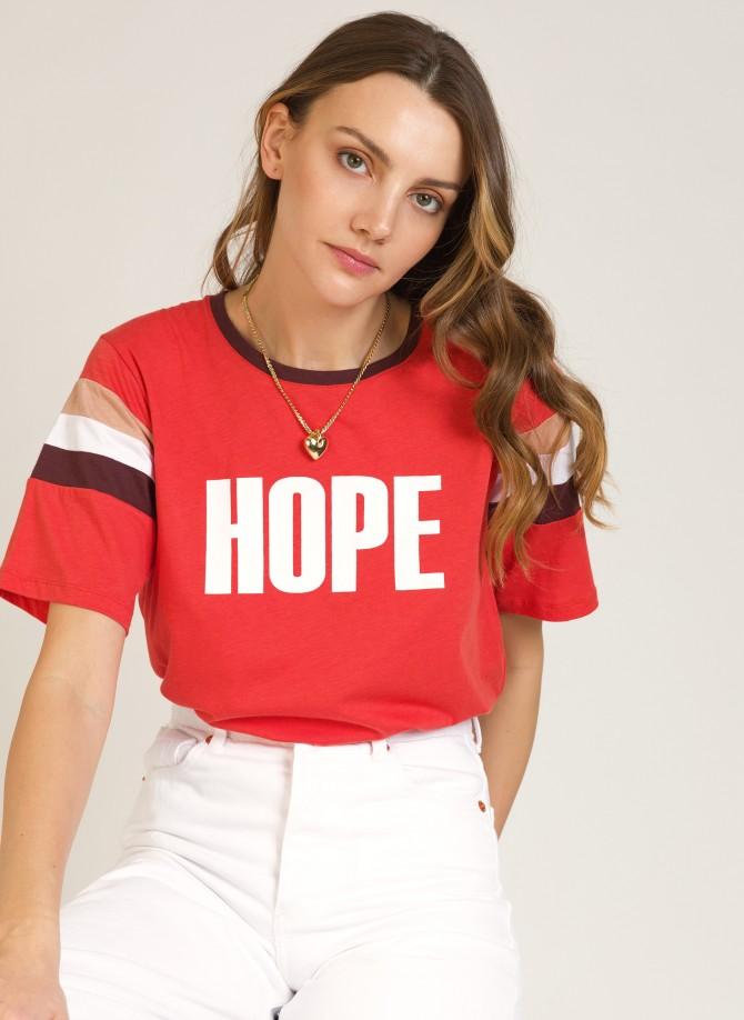 Printed message t-shirt TWILDI